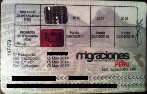 peru carnet extranjeria back prorroga residencia