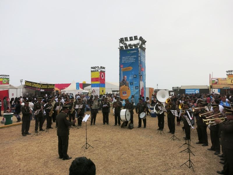 peru mistura 2015 police orchestra