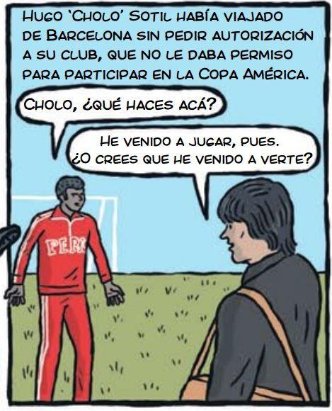 cholo hugo sotil peru soccer cartoon 1-1