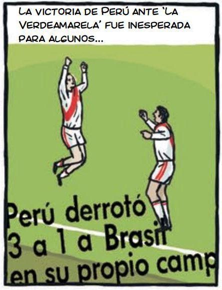 cholo hugo sotil peru soccer cartoon 1-3