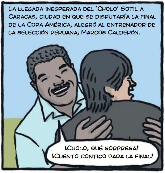 cholo hugo sotil peru soccer cartoon 3-1