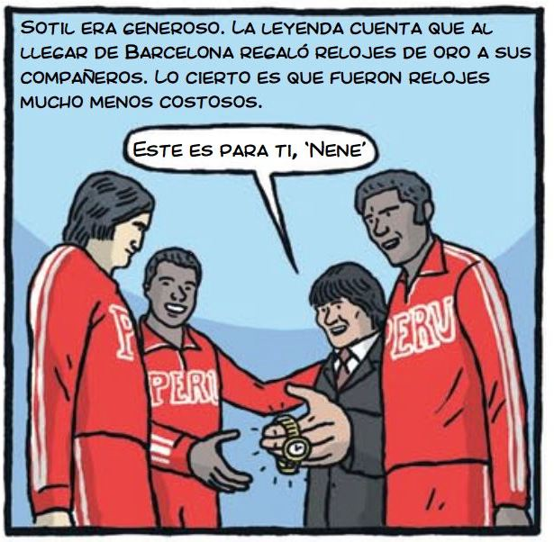 cholo hugo sotil peru soccer cartoon 3-2