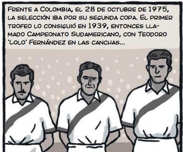 cholo hugo sotil peru soccer cartoon 3-3