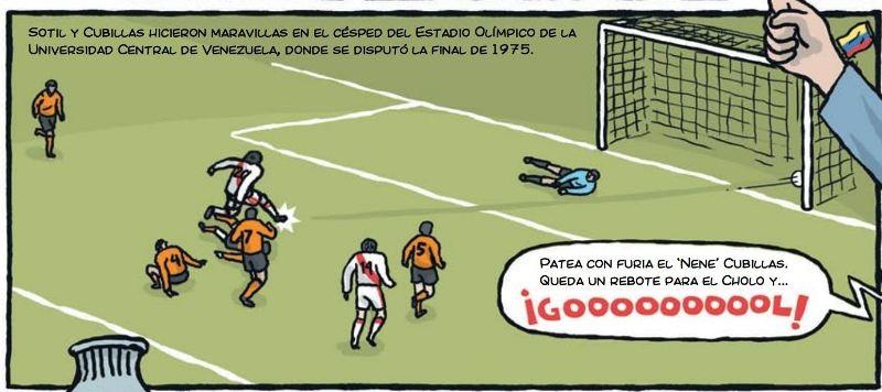 cholo hugo sotil peru soccer cartoon 4-2