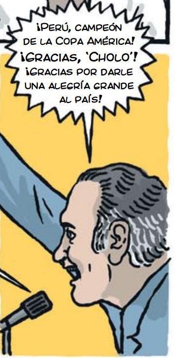 cholo hugo sotil peru soccer cartoon 4-3