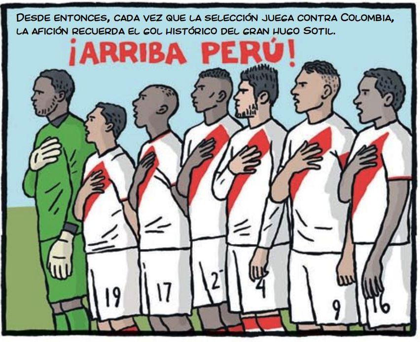cholo hugo sotil peru soccer cartoon 5-3