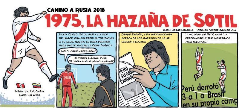 cholo hugo sotil peru soccer cartoon