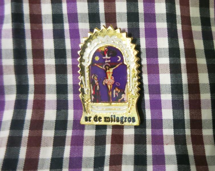 senor milagros lima peru lapel pin